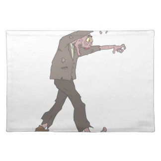 Man In A Suit Creepy Zombie With Rotting Flesh Out Placemat