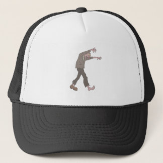 Man In A Suit Creepy Zombie With Rotting Flesh Out Trucker Hat