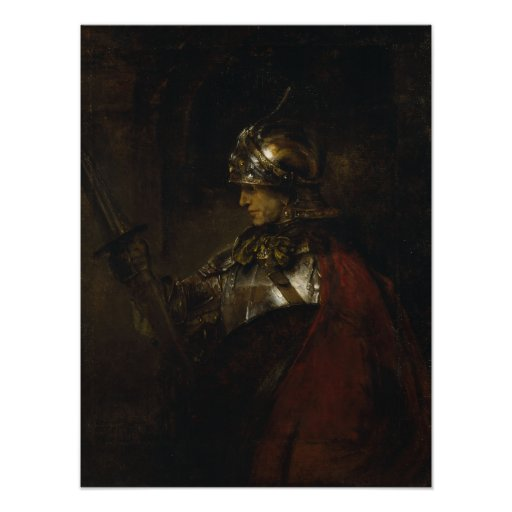 Man in Armour Print