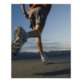 Man in athletic gear running poster