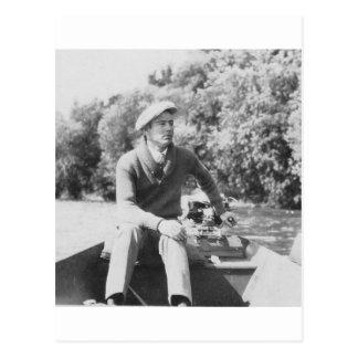 Man in Boat Postcard