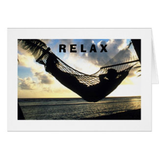 **MAN IN HAMMOCK***-RELAX AND ENJOY YOUR BIRTHDAY CARD