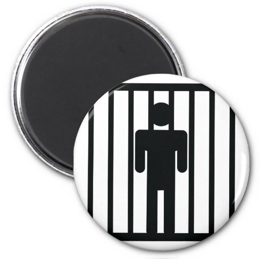 man in jail magnets