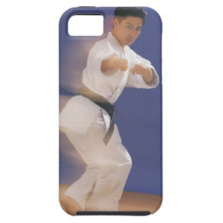 Man in karate stance case for the iPhone 5
