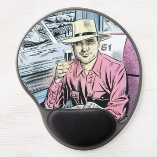 Man in seat 61 shaped mousemat gel mouse pad