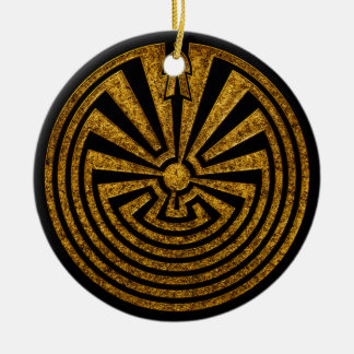 Man in the Maze, Journey through life, I'itoi, Ceramic Ornament