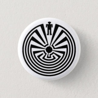 MAN in the MAZE Native HOPI Tohono O'odham Button