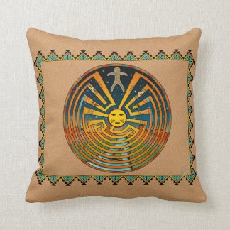 Man In The Maze Throw Pillow