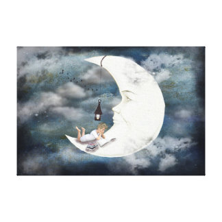 Man in the Moon Canvas Print