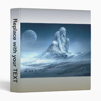 Man in the Mountain Fantasy Sculpture 3 Ring Binder