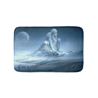 Man in the Mountain Fantasy Sculpture Bath Mat