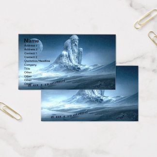 Man in the Mountain Fantasy Sculpture Business Card
