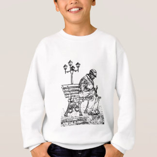 Man in the Park with to flower Man in the park Sweatshirt