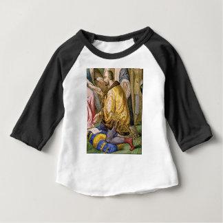 man in yellow kneels baby T-Shirt