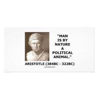 Man Is By Nature A Political Animal Aristotle Photo Card Template