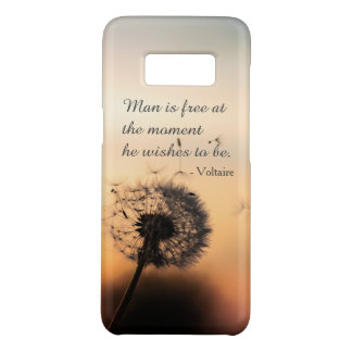 Man is Free Voltaire Quote Case-Mate Samsung Galaxy S8 Case