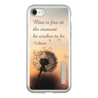 Man is Free Voltaire Quote Incipio DualPro Shine iPhone 8/7 Case