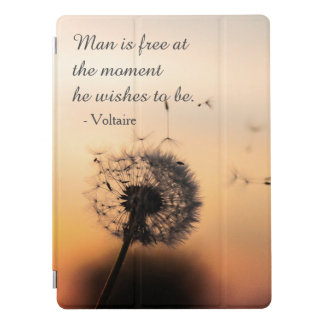 Man is Free Voltaire Quote iPad Pro Cover