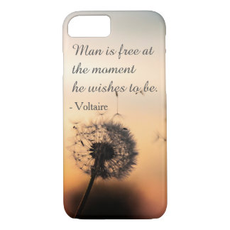 Man is Free Voltaire Quote iPhone 8/7 Case
