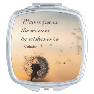Man is Free Voltaire Quote Mirror For Makeup