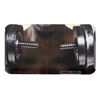 Man lifting dumbbells 2 barely there iPod case