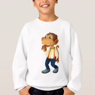 Man-like monkey sweatshirt