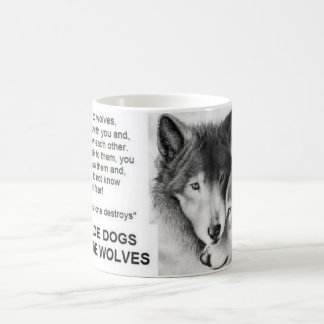 man made dogs god made wolves coffee mug
