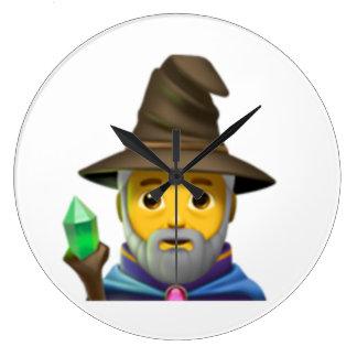 Man Mage - Emoji Large Clock