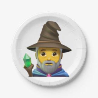 Man Mage - Emoji Paper Plate