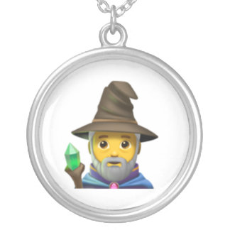 Man Mage - Emoji Silver Plated Necklace