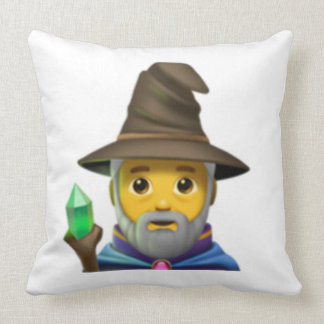 Man Mage - Emoji Throw Pillow