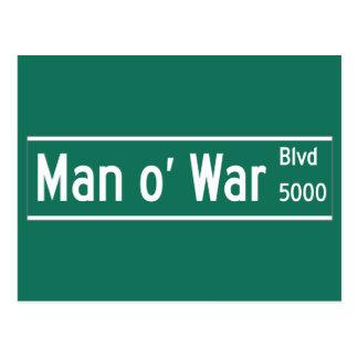 Man O' War Boulevard, Street Sign, Kentucky, US Postcard