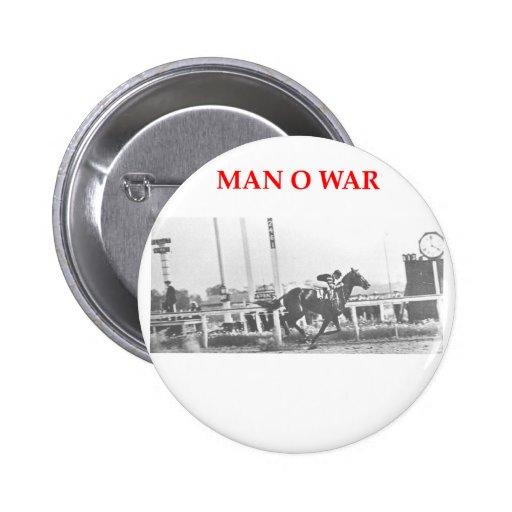 man o war pinback buttons