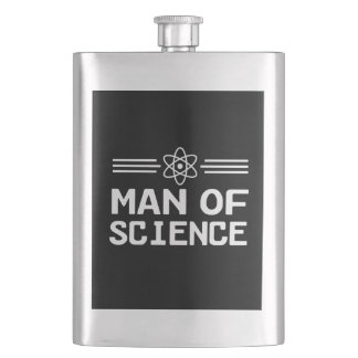 Man of Science Hip Flask