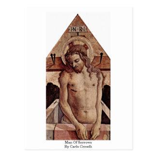 Man Of Sorrows By Carlo Crivelli Postcard