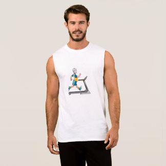 Man on a Treadmill Fitness Sleeveless Shirt