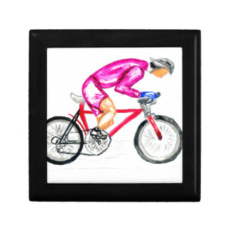 Man on Bicycle Sketch Gift Box