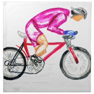 Man on Bicycle Sketch Napkin