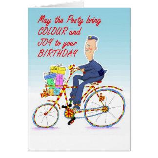 man on bike as postman Z 7x5ins.jpg Card