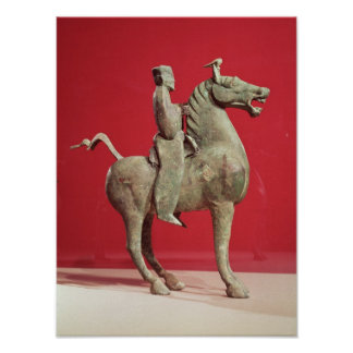 Man on horseback from Wu-wei, Kansu Poster