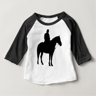 Man On Horseback Silhouette Baby T-Shirt