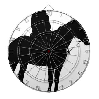 Man On Horseback Silhouette Dartboard