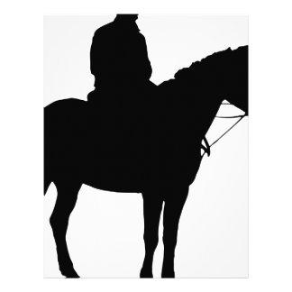 Man On Horseback Silhouette Letterhead
