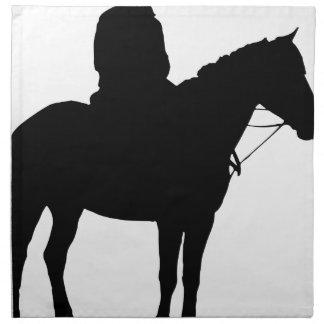 Man On Horseback Silhouette Napkin
