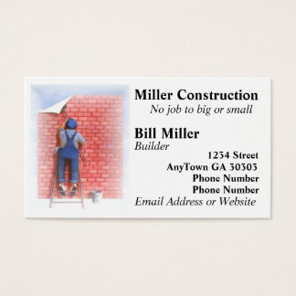 Man On Ladder Business Card