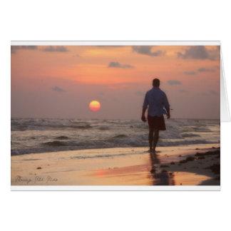 Man on Panama City Beach Card