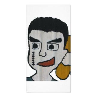 Man on phone photo greeting card