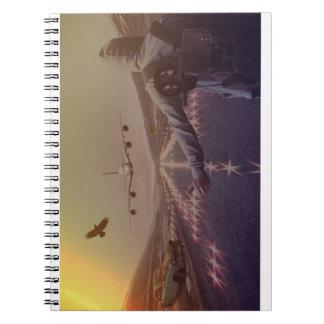 Man on Runway Spiral Note Book