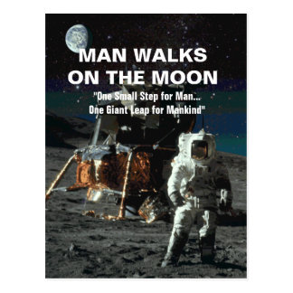 Man on the Moon Giant Leap for Mankind Postcard