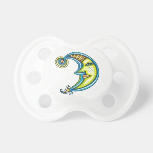Man On The Moon Baby Pacifier